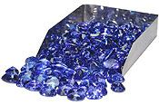 Once mined, rough tanzanite stones are heated to approximately 500 degrees (sometimes even more depending on the quality of the stone) in crucibles.