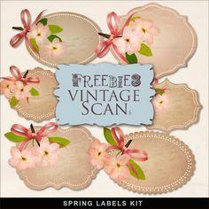 Far Far Hill: Freebies Kit of Spring Labels
