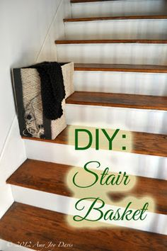One Trip Up Stair Basket  Have Always Wanted One Of These Ever Since I Was  Little  @Jan Sherardu0027s, Actually! :) | Sewing Projects | Pinterest | Stair  Basket ...