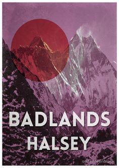 Halsey's 'Badlands' alternative poster | se7enteenblack | $12.96-$34.98