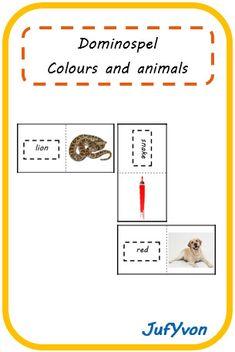 ©JufYvon: Bingo- en dominospel - colours and animals