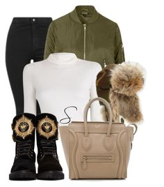 """aviator hat"" by styledbystephxx on Polyvore featuring Topshop, A.L.C., Canada Goose, CÉLINE and Balmain"
