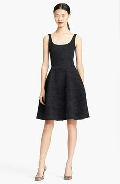 Oscar de la Renta Silk Cloqué Cocktail Dress available at #Nordstrom