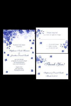 Royal blue and silver wedding invitation templates for microsoft royal blue wedding invitations stopboris Image collections