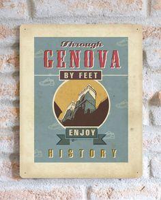 Genova by feet | TARGA | Vimages - Immagini Originali in stile Vintage