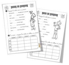 Conjuguer avoir et être au présent exercices CE1 Presentation, Classroom Activities, Bullet Journal, Education, School, Cycle 3, French, French Tips, Verb Words