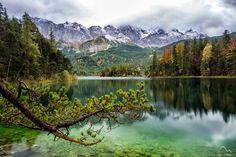 Hiking around alpine lake in Bavaria Germany on a rainy day [OC][5373  3593] http://ift.tt/2zj6srW