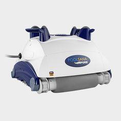 Vollautomatischer, kompakter Poolreiniger POOLSANA Pure zur entspannten Reinigung von Pool-Boden und -Wand, mit langlebigen PVA-Superbrush-Bürsten, geeignet für jede Beckenart. #pool #cleaner