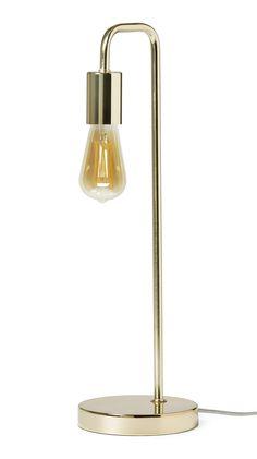 Dekorativ och lättplacerad bordslampa med synlig ljuskälla som ligger rätt i tiden. Toppa lampan med en av våra dekorativa ljuskällor för rätt känsla.