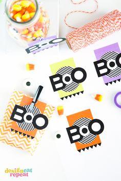 Etiquetas halloween // Printable halloween gift tags #Halloweeniscoming