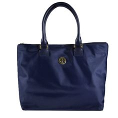 3f6f930b7bff Tory Burch Dena Tote   Sold-out Navy Blue   Normandy Blue Nylon and Leather  Cross Body Bag 18% off retail