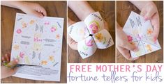 black and white Mother's Day Fortune Teller FB
