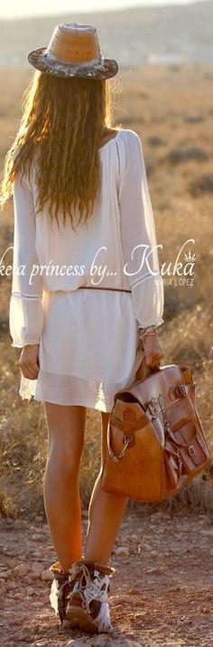 Kuka & Chic Camel Indie Fringe Leather Booties by Like A Princess Like.... Kuka