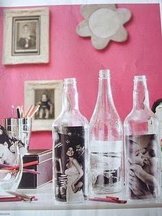 Fotos em garrafas