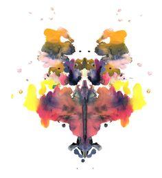 Rorschach print by louise boye