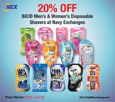 HOT DEAL on BIC RAZORS!!! | My Military Savings http://www.mymilitarysavings.com/blog/2689-hot-deal-on-bic-razors-