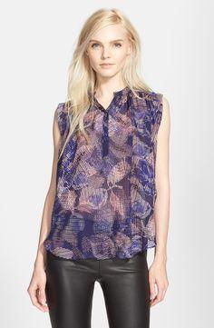 Rebecca Taylor 'Sonic Garden' Sleeveless Silk Top