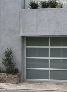 Glass-Paneled Garage Doors from GDI doors Garage Door Panels, Wood Garage Doors, Garage Door Design, Garage Remodel, Exterior Remodel, Beach Bungalow Exterior, Exterior House Colors Combinations, House Cladding, Garage Door Makeover