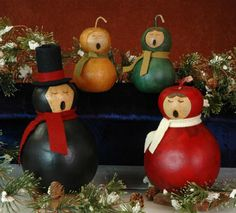 RETIRED - Meadowbrooke Gourd carolers from the past.