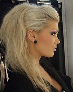 Irokez fryzura damska