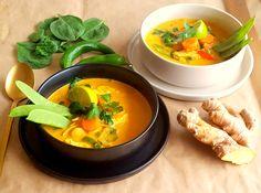 Thai kókusztejes currys csirkeleves Thai Red Curry, Ethnic Recipes, Food, Meals, Yemek, Eten