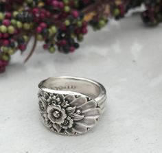 Sterling Silver Plate Spoon Rings Pattern: Jubilee circa 1953