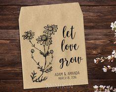Seed Packet Favor Wedding Seed Packet Woodland Wedding Favor Personalized Seed Envelope Let Love Grow Wildflower Seeds Rustic Wedding x 25 #boho #letlovegrow #bohowedding #rusticwedding #weddingfavors #love #weddingfavors #weddingthankyou