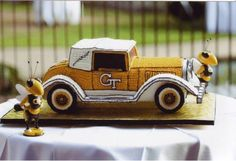 Georgia Tech Ramblin Wreck Groom's Cake. Made by   Mark Lotti's Classic Cheesecakes and Cakes of Atlanta, GA.  This was Italian Cream cake and was delicious!