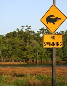 A sign in South Louisiana.