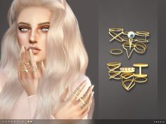 Euphoria Rings by toksik at TSR • Sims 4 Updates