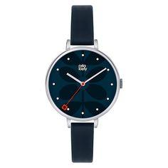 Buy Orla Kiely Women's Slim Strap Leather Strap Watch Online at johnlewis.com