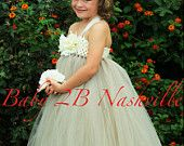 Flower Girl  Dress in Ivory and Silver Toddler 2-4T. $81.00, via Etsy.