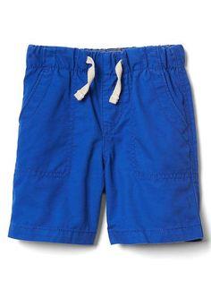 Bule twill shorts