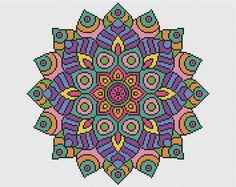 KIT Mandala Cross Stitch Kit - declaración Mandala completo Cross Stitch Kit 16 cuenta con hilos DMC