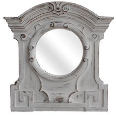Distressed White Windsor Mirror - Restoration Hardware style for less