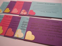 Advice Cards Engagement Party Game Handmade by CraftyTobias, $6.50