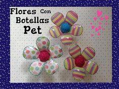 FLORES HECHAS CON BOTELLAS PET CUBIERTAS CON TELA .- PET FLOWERS - YouTube ♥Teresa Restegui http://www.pinterest.com/teretegui/ ★♥