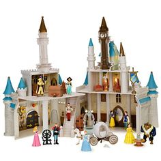 """Disney Exclusive Cinderella's Castle Playset with 10 Disney Poseable Characters (Jasmine, Alladin, Sleeping Beauty, Prince Philip, Snow White, Prince Charming, Belle and Beast)   Disney Exclusive Cinderella's Castle Playset with 10 Disney Poseable Characters (Jasmine, Alladin, Sleeping Beauty, Prince Philip, Snow White, Prince Charming, Belle and Beast) Direct from the Walt Disney World Resort Theme Park Exclusive """"New Cinderella Castle Playset"""" *CASTLE INCLUDES 10 POSE ABLE FIGURES:.."""