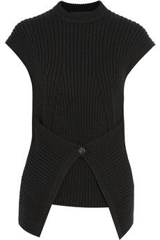 Alexander Wang Ribbed-knit cotton-blend top | THE OUTNET