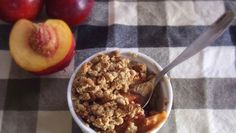 Recipe: Plum & Nectarine Crumble