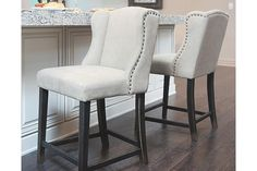 Light Beige Moriann Counter Height Barstool View 1