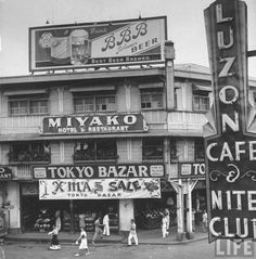 A view of a Japanese bazaar still open and doing business in Manila one week before the war with Jaoan. Location: Manila, Philippines Date taken: 1942 Photographer: Carl Mydans - pin by Paolo Marzioli Philippines Culture, Manila Philippines, Treaty Of Paris, President Of The Philippines, Jose Rizal, Philippine Holidays, The Spanish American War, Philippine Art, Filipino Culture