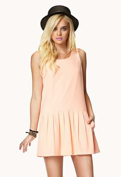 Pleated Drop Waist Dress | FOREVER21 - 2039174325