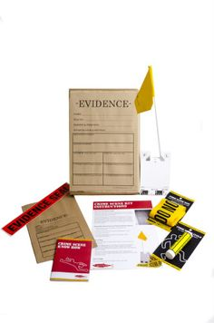Crime Scene Kit by Red Herring Games LTD designed in United Kingdom - Gamer House Ideas 2019 - 2020 Spy Party, Party Themes, Party Ideas, Games For Kids, Activities For Kids, Detective Party, Scene Kids, Criminal Justice, Party