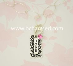 Never. Lose. Hope. What inspires you? Bcharmed has many inspirational word charms to choose from. Find yours at www.bcharmed.com