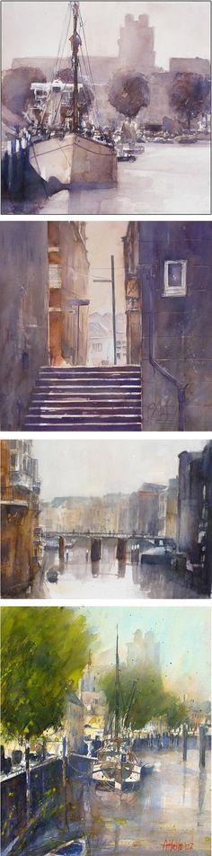 Adrie Hallo ia een aquarellist gevestigd in Dordrecht, Netherlends