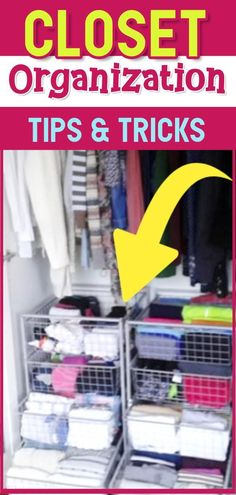 Trying to organize your closet? Don't let a tiny closet leave you feeling overwhelmed! Try these closet organization ideas and get your closet organized the easy way.  See all these closet organization ideas for small closets or walk in closets to declutter clothes, maximize space and finally tame your closet clutter! Clever Closet, Tiny Closet, Small Closets, Master Closet, Organizing Walk In Closet, Organizing Your Home, Organizing Tips, Closet Storage, Getting Organized At Home
