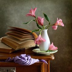 #still #life #photography • Pink Flowers  Print By Nikolay Panov
