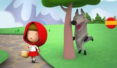 colección de cuentos infantiles KIDSKIOSKE, caperucita roja, el gato con botas, cenicienta, blancanieves., el patito feo, la lechera,... Caperucita Roja es u...