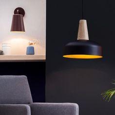 Timber Pendant Lamp - Blk/Gld - alt_image_three